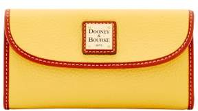 Dooney & Bourke Pebble Grain Continental Clutch Wallet - LEMON - STYLE