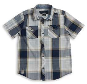 Buffalo David Bitton Boy's Pocketed Plaid Sportshirt