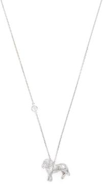 Elizabeth Showers Women's Silver & White Sapphire Leo Zodiac Necklace