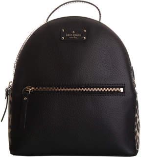 Kate Spade Black Leopard Sammy Grove Street Leather Backpack