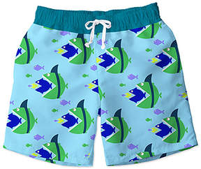 Trunks Teal & Green Sailboat Swim Toddler & Boys