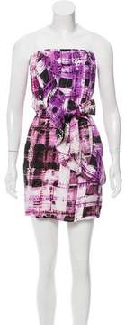 Ali Ro Printed Strapless Dress w/ Tags