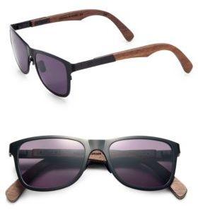 Shwood Canby Walnut & Titanium Sunglasses