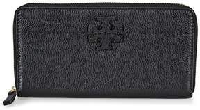 Tory Burch McGraw Continental Leather Wallet- Black - ONE COLOR - STYLE