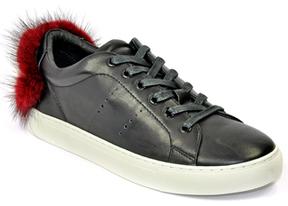 Lola Cruz 257Z10BK - Leather Fur Sneaker