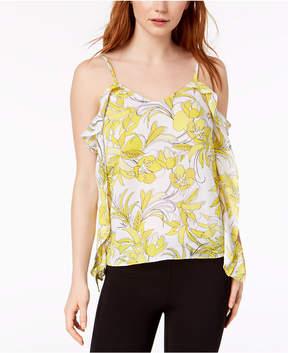 Bar III Ruffled Printed Floral Top, Created for Macy's
