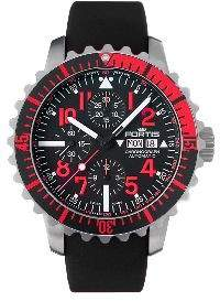 Fortis Marinemaster Chronograph Automatic Black Dial Men's Watch 671.23.43 K