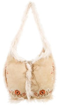 Giuliana Teso Fur Embroidered Bag