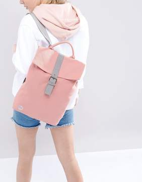Mi-Pac Fold Top Canvas Backpack in Rose Pink