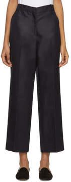 Mansur Gavriel Blue Silk Shantung Trousers