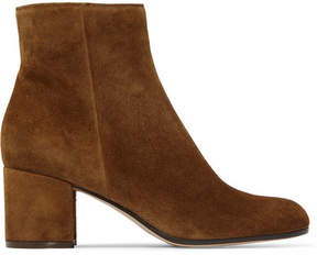 Gianvito Rossi Margaux 60 Suede Ankle Boots - Tan
