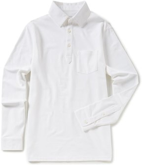 Roundtree & Yorke Trim Fit Long-Sleeve Solid Polo