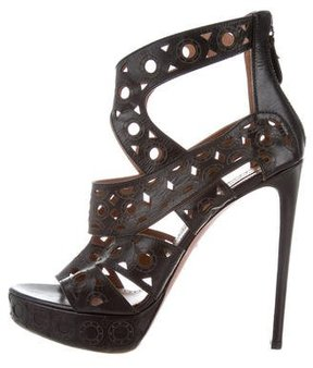 Alaia Laser Cut Caged Sandals
