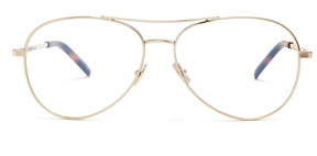 SAINT LAURENT Aviator metal glasses