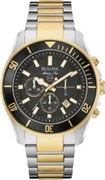 Bulova Marine Star 98B249 Gold/Black Analog Quartz Men's Watch