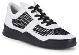 Karl Lagerfeld Leather Cut-Out Sneakers