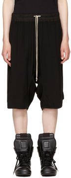 Rick Owens Black Basket Swingers Shorts