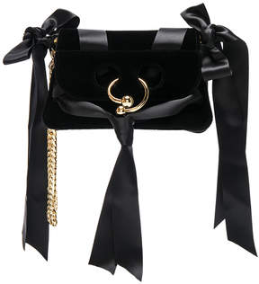 J.W. Anderson Mini Pierce Velvet Bow Bag