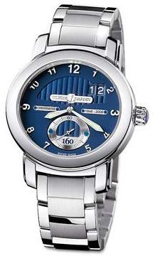 Ulysse Nardin 160th Anniversary Blue Dial 18K White Gold Automatic Men's Watch