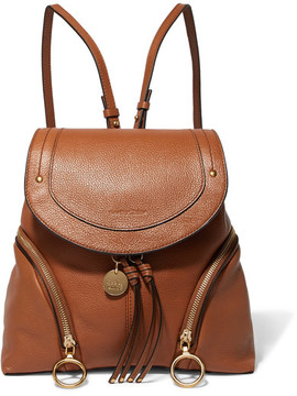 See by Chloe Olga Textured-leather Backpack - Tan
