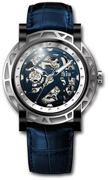 Reign Stavros Collection Men's Automatic Leather and Stainless Steel Watch