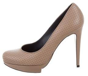 Pollini Perforated Platform Pumps w/ Tags