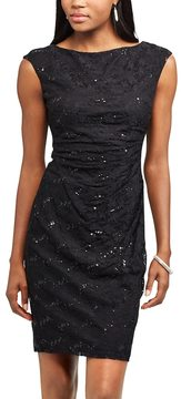 Chaps Women's Lace Sequin Sheath Dress