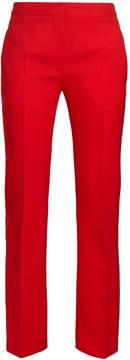 Alexander McQueen Mid-rise wool-blend cigarette trousers