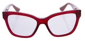Miu Miu Tinted Embellished Sunglasses