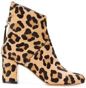 Francesco Russo leopard print ankle boots