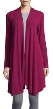 Context Ribbed Open Front Cardigan