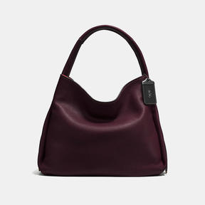COACH BANDIT HOBO 39 IN NATURAL PEBBLE LEATHER - BLACK COPPER/OXBLOOD