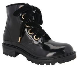 Nina Girl's Cherrie Lugged Patent Boot