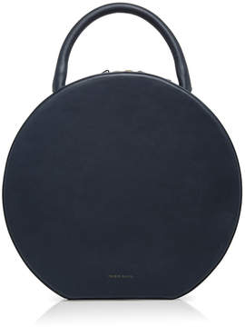 Mansur Gavriel Navy Leather Circle Bag