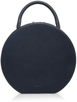 Mansur Gavriel Navy Leather Circle Bag