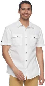 Rock & Republic Men's Solid Ripstop Button-Down Shirt