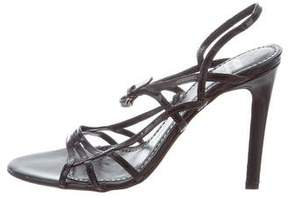 Moschino Cheap & Chic Moschino Cheap and Chic Multistrap Patent Leather Sandals