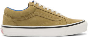 Vans Tan Nubuck OG Old Skool LX Sneakers