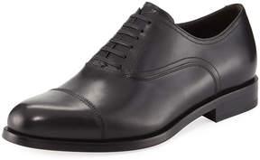 Salvatore Ferragamo Slip-On Leather Dress Driver, Black