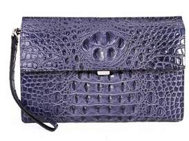 Tiffany & Co. & Fred Alligator Embossed Leather Clutch.