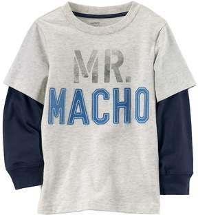 Carter's Boys 4-7 Mr. Macho Mock-Layered Tee