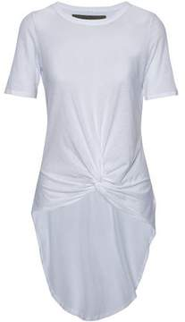 Enza Costa Asymmetric Knotted Slub Pima Cotton Top