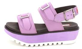 Hunter Womens Org Dbl Buck Mid Open Toe Casual Slide Sandals.