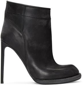 Haider Ackermann Black Heeled Ankle Boots