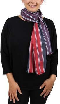 Moschino Dm1 D1202/1 Red Stripe Scarf.
