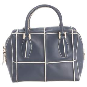 Tod's Navy Leather Handbag