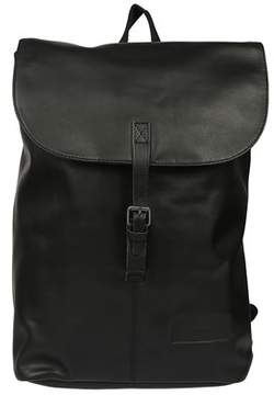 Eastpak Men's Black Leather Backpack.