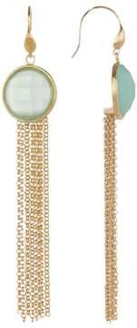Rivka Friedman Mint Chalcedony Fringe Dangle Earrings