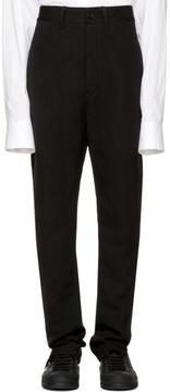 Ann Demeulemeester Black Split Hem Mustang Trousers