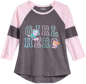 Nickelodeon Paw Patrol Girl Hero Raglan T-Shirt, Little Girls (4-6X)